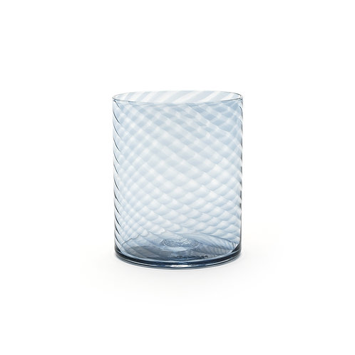 Hand Blown Twisty Drinking Glass