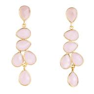 Rose Quartz Organic Gemstone Drops