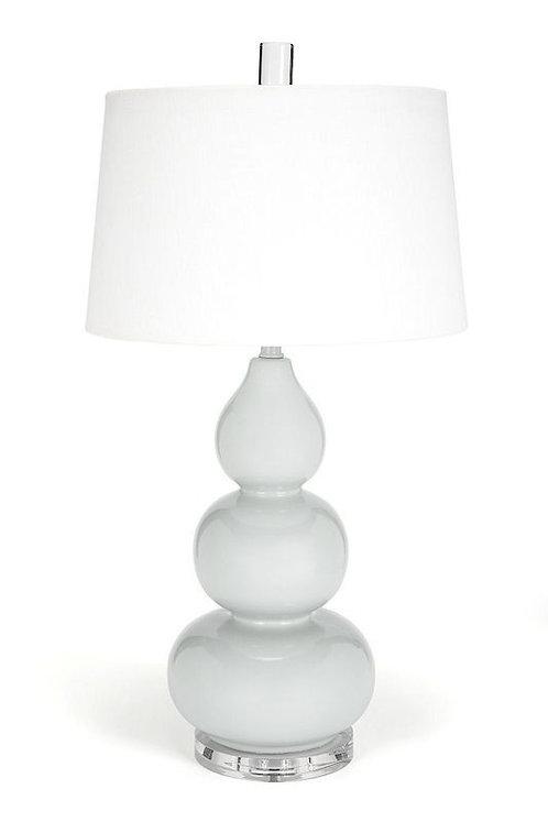 Triple Gray Gourd Lamp