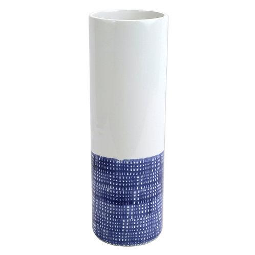 Blue Geo Tall Vase