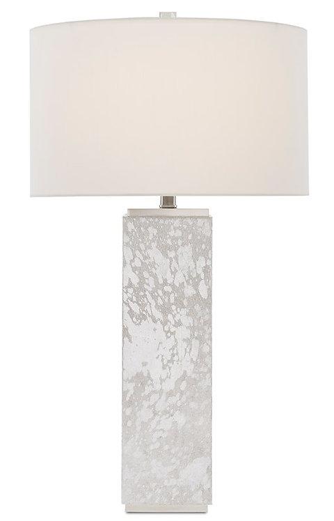 Silver Hair on Hide Lamp