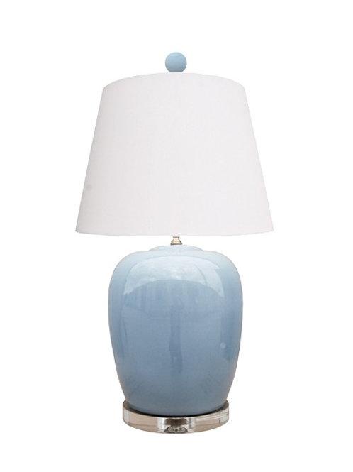 Ice Blue Jar Lamp