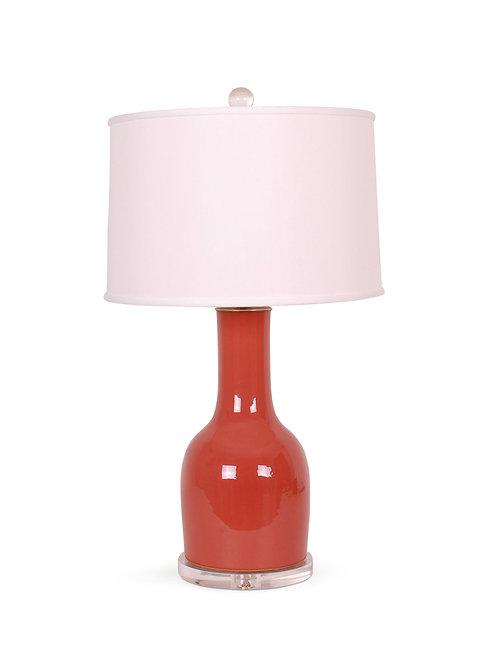 Rust Red Bulb Vase
