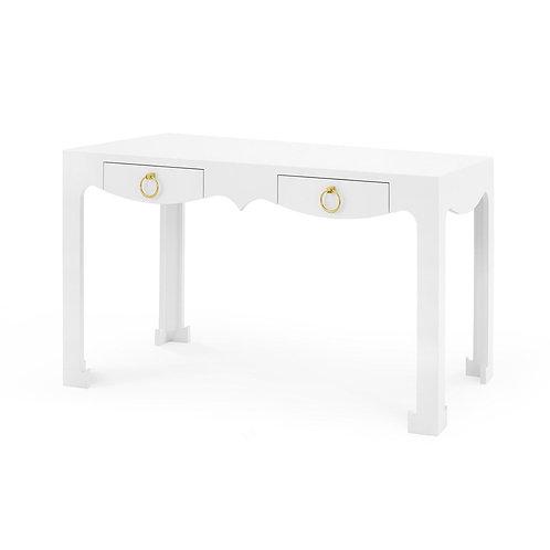 White Lacquered Console/Desk