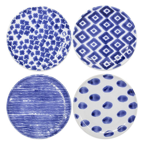 Assorted Cocktail Plates - Set of 4