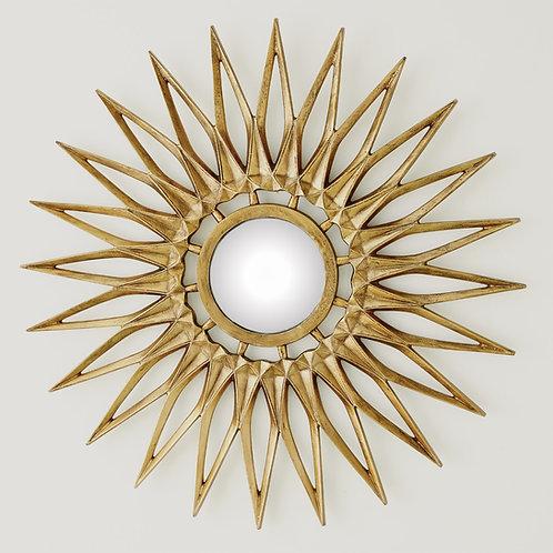 Small Dahlia Brass Mirror