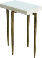 Laforge White Marble Top Side Table