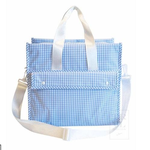 Gingham Tote/Diaper Bag