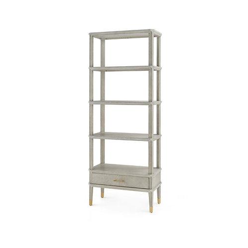 Grey 4-Shelf Oak Etagere