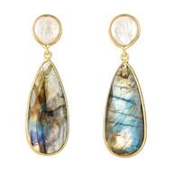 Mother of Pearl & Labradorite Earrings
