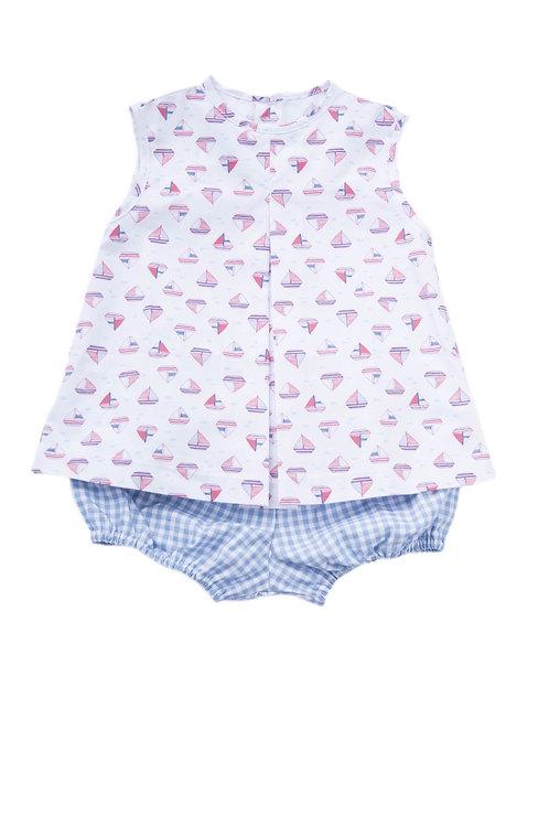 Rory Sailboat Diaper Set