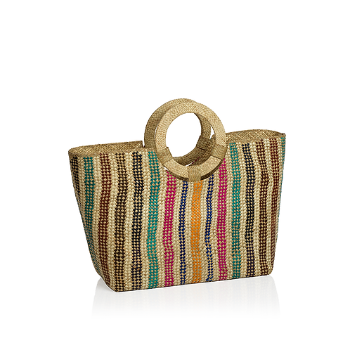 Ring Handle Beach Tote
