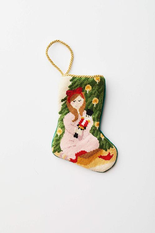Clara with Nutcracker Stocking