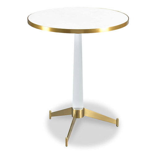 Round Lucite Drink Table