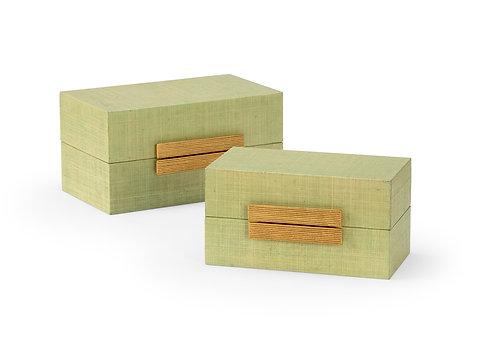 Seafoam Raffia Box