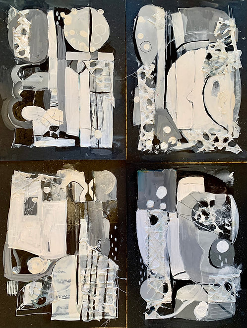 Black & White Village Series
