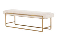 Cream Sled Bench