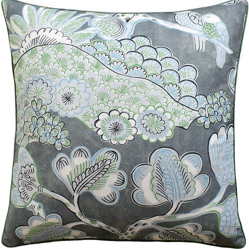 Grey Print Pillow