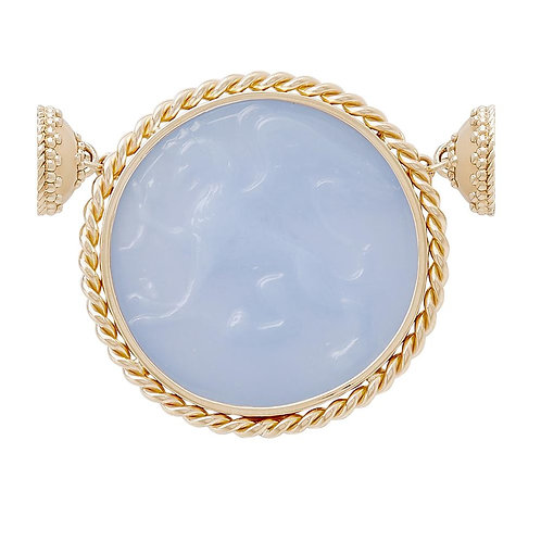 GRIFFIN BLUE ITALIAN GLASS CENTERPIECE