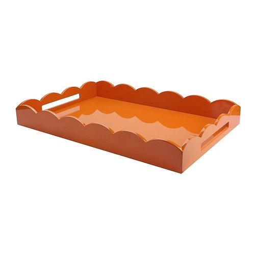 Orange Scallop Tray