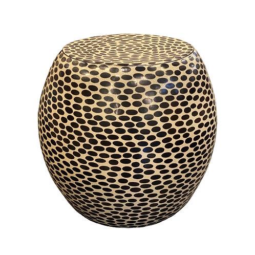 Porcelain Black Dot Stool