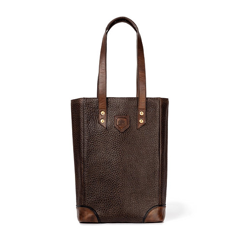 Leather Two Bottle Tote
