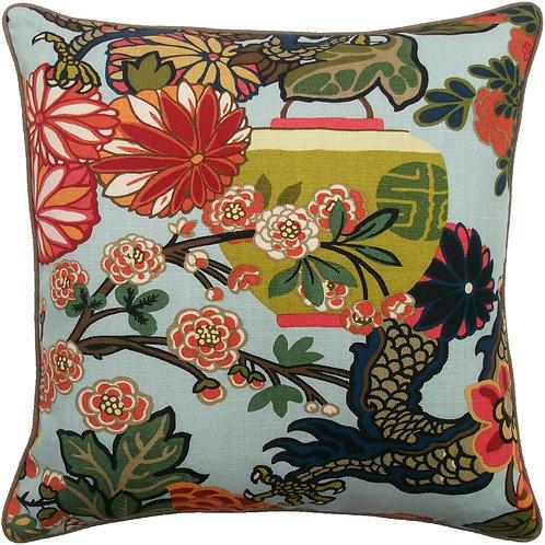 Aquamarine Chiang Dragon Pillow