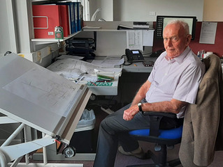 Design Engineer Ken Fisher - his 50th Anniversary at Neville's!