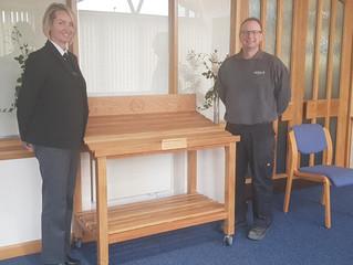 Flower shelf for Neville Funerals