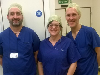 Warren, Russell & Lesley scrub up for theatre works