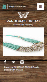 Online Store website templates –  Handmade Jewelry
