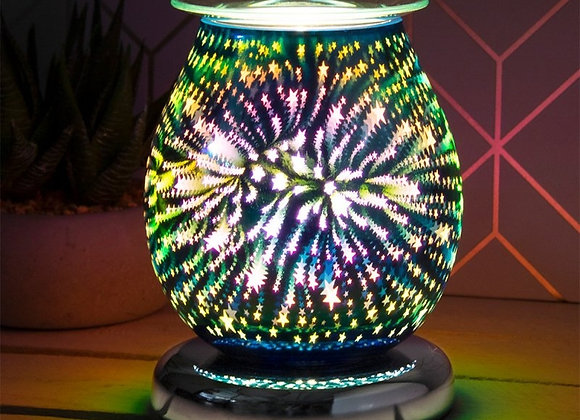 Touch Sensitive 3D Electric Wax Melter/Aroma Lamp - Starburst