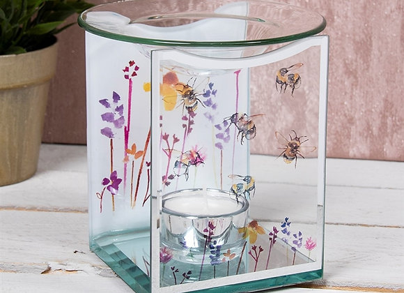 Glass Flower & Bee Wax Melter