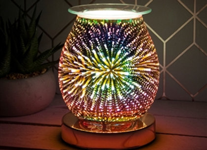 Touch Sensitive 3D Electric Wax Melter/Aroma Lamp - Rose Gold Firework