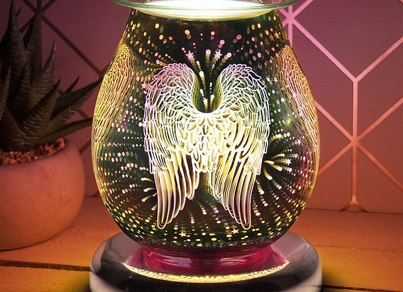 Touch Sensitive 3D Electric Wax Melter/Aroma Lamp - Angel Wings