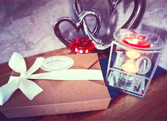 Glass Tealight Burner & Sample Box