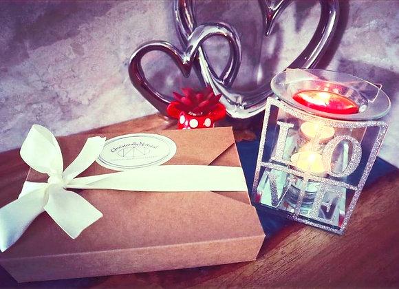 Glass Tealight Burner & Sample Box