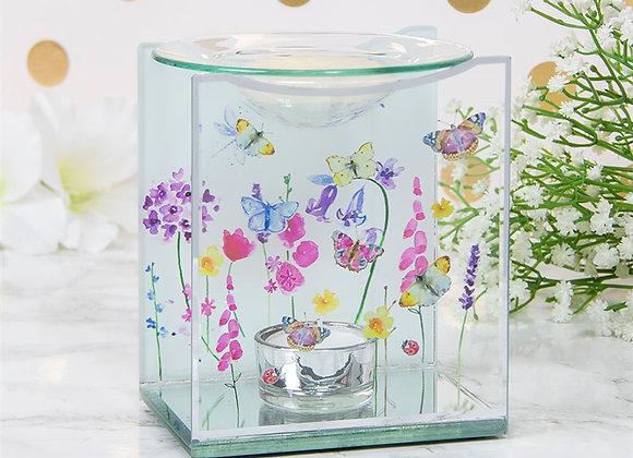 Glass Butterfly Garden Wax Melter