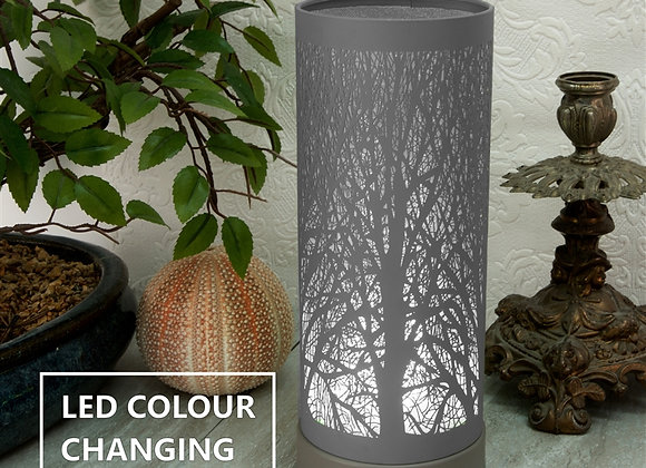 LED Colour Changing Tree Silhouette Aroma Lamp - Grey