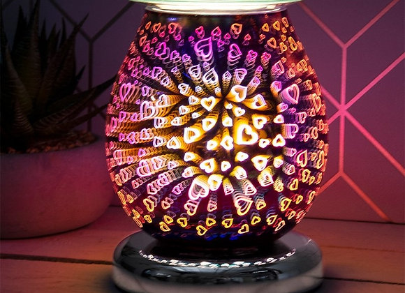 Touch Sensitive 3D Electric Wax Melter/Aroma Lamp - Purple Hearts