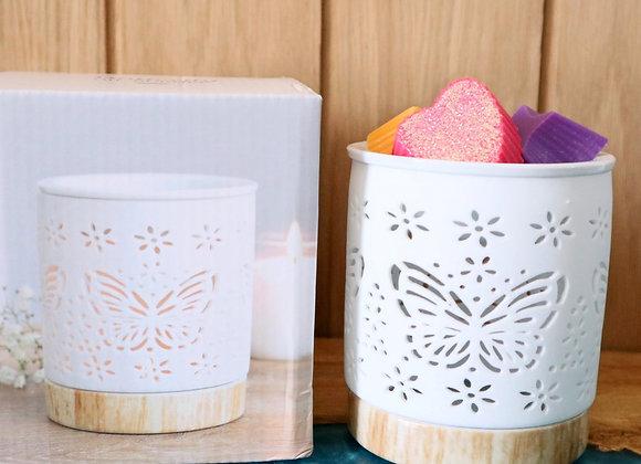 Butterfly cutout wax melter