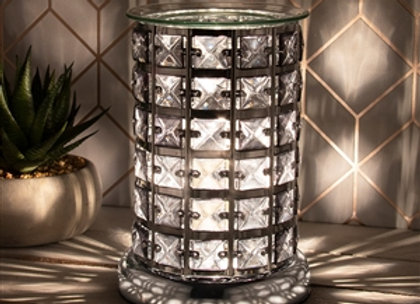 Black & Silver Crystal Touch Sensitive Aroma Lamp
