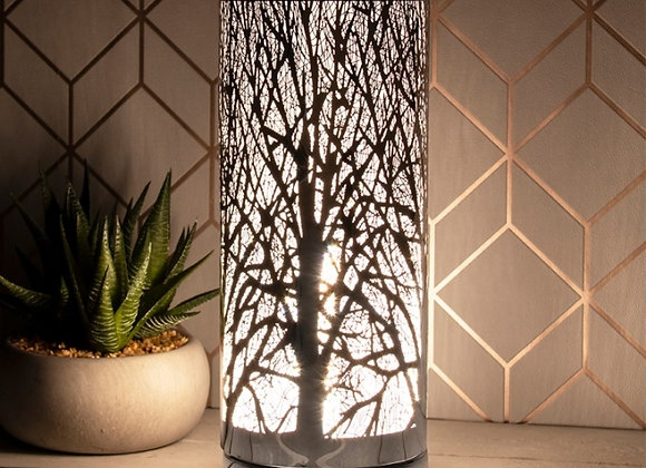 Silver Tree Silhouette Wax Melter/Aroma Lamp - Touch Sensitive