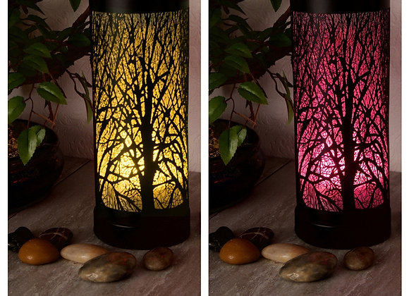 LED Colour Changing Tree Silhouette Aroma Lamp - Black