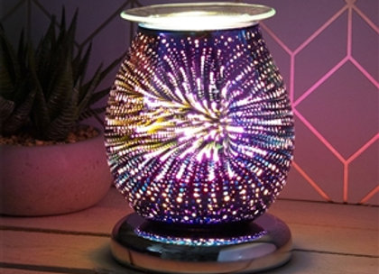Touch Sensitive 3D Electric Wax Melter/Aroma Lamp - Purple Fireworks