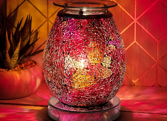 Ruby Mosaic Touch Sensitive Electric Wax Melter/Aroma Lamp