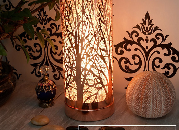 LED Colour Changing Tree Silhouette Aroma Lamp - Rosegold