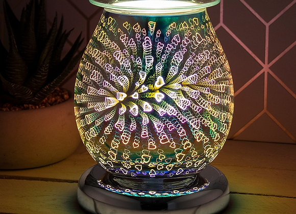 Touch Sensitive 3D Electric Wax Melter/Aroma Lamp - Hearts