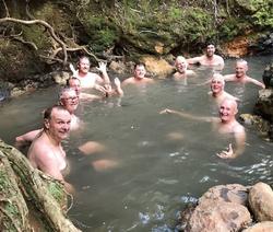 Kaitoke Hotsprings after a hike
