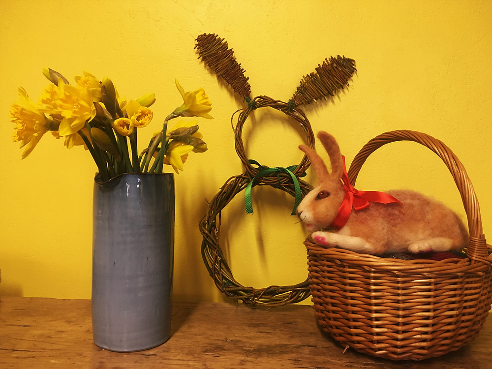 Top of the Woods camping glamping Pembrokeshire Wales Handmade Willow Bunny Rabbit